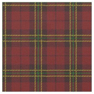 Brick deep Red plaid yellow/green & black stripe Fabric