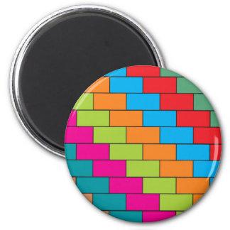 Brick design 2 inch round magnet