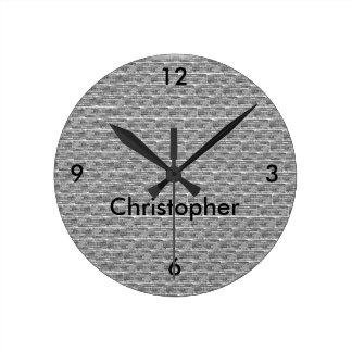 Brick Design Personalized Wall Clock