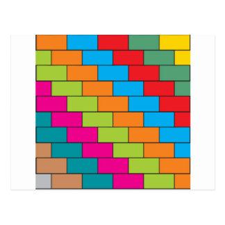 Brick design postcard