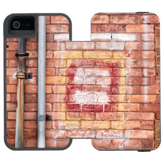Brick downpipes iPhone SE/5/5s wallet case
