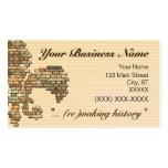"""""""brick fleur de lis"""" business card - 2"""