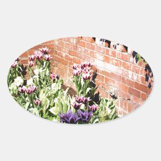 Brick Garden Oval Sticker