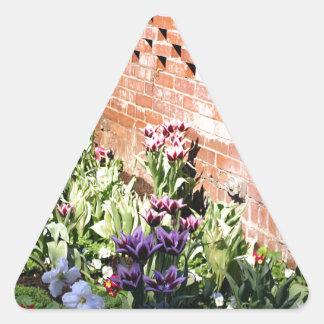 Brick Garden Triangle Sticker