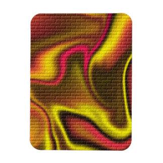 Brick Glow Colors Rectangular Magnets