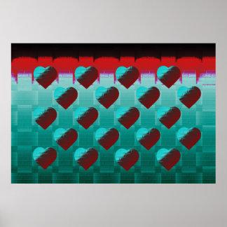 Brick Hearts Poster