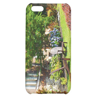 Brick Home, Adirondack Wooden Chairs, Shrubs Plaza Case For iPhone 5C