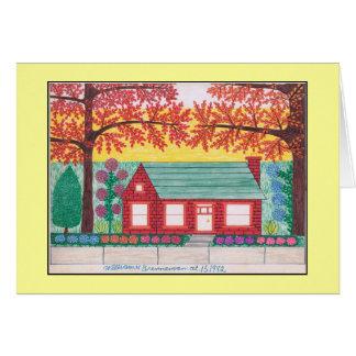 Brick House 10-15-1982 Card