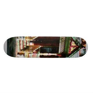 Brick House With Green Trim Custom Skateboard