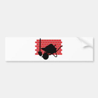 brick layer gear bumper sticker