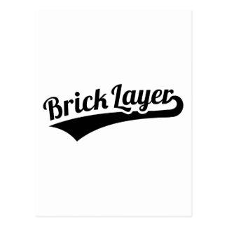 Brick layer postcard