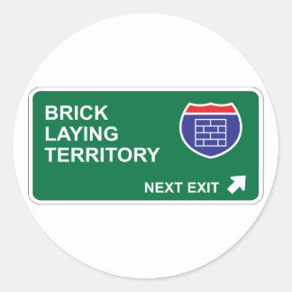 Brick Laying Next Exit Classic Round Sticker