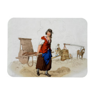 Brick Maker, from 'Costume of Great Britain', publ Rectangular Photo Magnet
