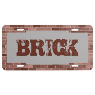 Brick Mason License Plate
