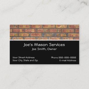 Masonry business cards templates zazzle brick mason masonry business card colourmoves
