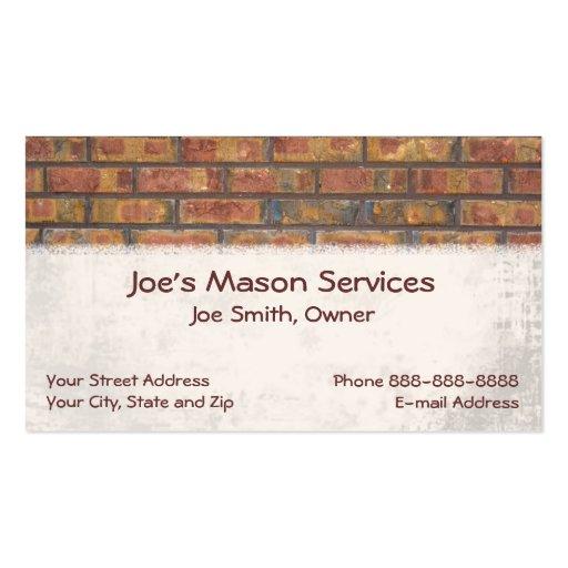 Stone mason business card templates bizcardstudio brick mason masonry business card colourmoves