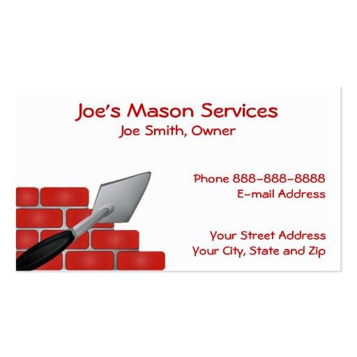 Masonry business card templates page2 bizcardstudio brick mason masonry business card colourmoves