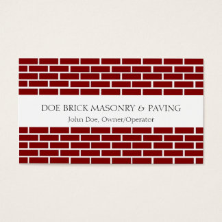 Brick Mason W/W Fire Red Brick Business Card