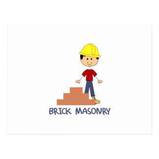 BRICK MASONRY POSTCARD