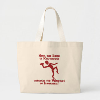 Brick Of Knowledge Canvas Bag