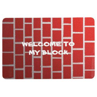 Brick of red floor mat