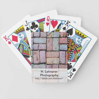 Brick Path Bicycle Playing Cards