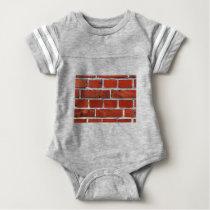 Brick Pattern Baby Bodysuit