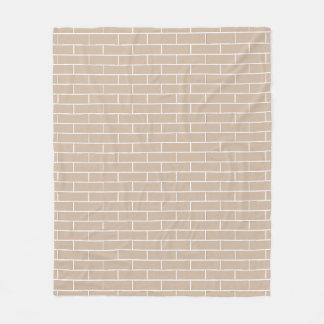 Brick Pattern...choose your brick color. Fleece Blanket