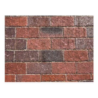 brick pattern postcard