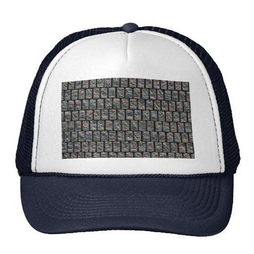 Brick pattern texture mesh hats