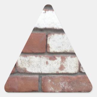 Brick pattern triangle sticker