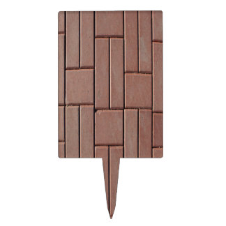 Brick Pavers Rectangle Cake Toppers