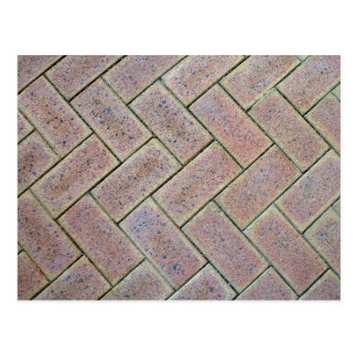 Brick Paving Texture Postcard