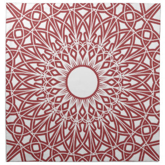 Brick Red Crocheted Lace Fabric Napkins