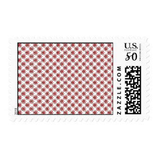 Brick Red Flower Postage