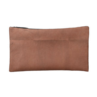 Brick Red Paper creased background Makeup Bags