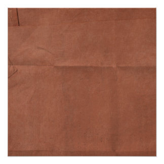 Brick Red Paper creased background Poster