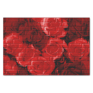 Brick Roses 02 Red-Tissue Wrapping Paper