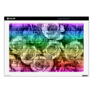 Brick Roses 16-Rainbow-17in Vinyl Laptop Skin