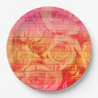 Brick Roses 17 Pink Lemonade-Paper Party Plates