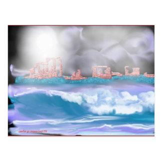 brick seascape-1 postcard