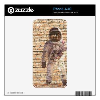 Brick Spaceman Decals For iPhone 4