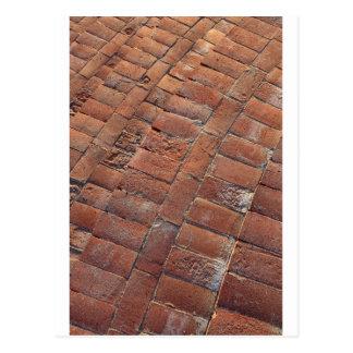 Brick steps background texture postcard