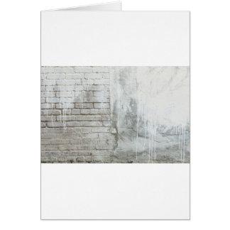 Brick Texture White Paint Dripping Grunge Card