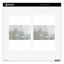 Brick Texture White Paint Dripping Grunge Kindle Fire Decal