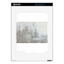 Brick Texture White Paint Dripping Grunge Skin For iPad 2