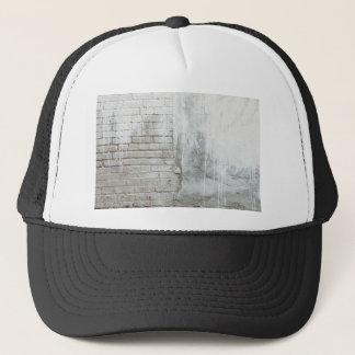 Brick Texture White Paint Dripping Grunge Trucker Hat