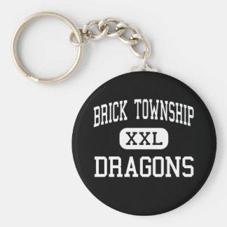 Brick Township - Dragons - High - Brick New Jersey Keychain