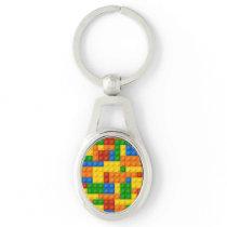 Brick toy mosaic keychain