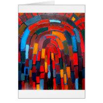 Brick Vault (abstract naive pattern )